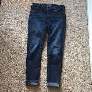 Lucky Brand Size 26/2 Dark-Wash Skinny Jeans